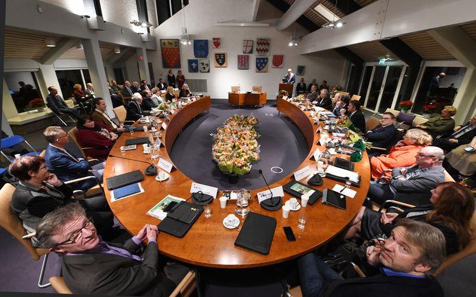 DE laatste raadsvergadering van de oude gemeente Geldermalsen.