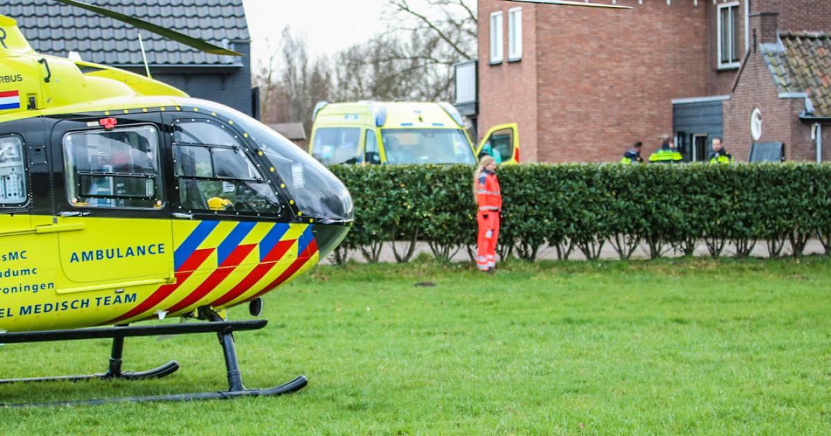 Kind zwaargewond bij ongeluk in Woudenberg, traumahelikopter rukt uit.
