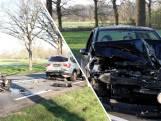 Kettingbotsing op N35: vier auto's klappen op elkaar