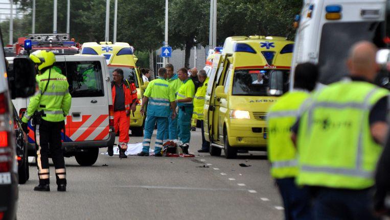 Een 'ambulancebroeder' was mogelijk niet gekwalificeerd om zorg te bieden. Beeld ANP