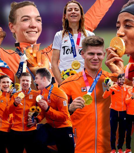 Medaillerecord in beeld: alle 36 medaillewinnaars op een rij