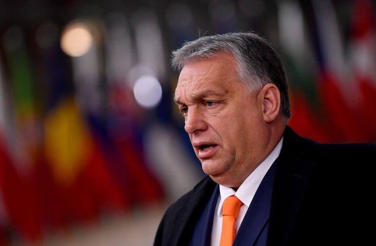 De Hongaarse premier Viktor Orbán ageert tegen een West-Europees netwerk, dat volgens hem specifieke manieren van denken over familiewaarden en migratie wil opdringen aan landen die 'anders denken'. Beeld Reuters