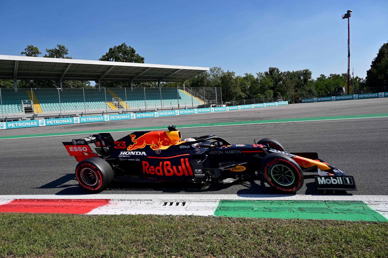 Max Verstappen op het Autodromo Nazionale in Monza vorig jaar.