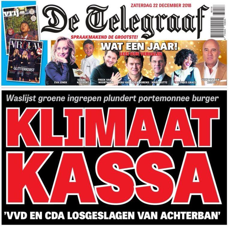 Klimaatonzin in Telegraaf