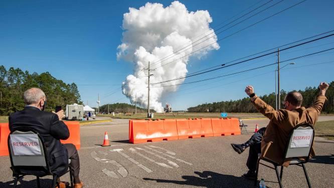 Succesvolle test met megaraket van NASA die mensen opnieuw naar de maan moet brengen