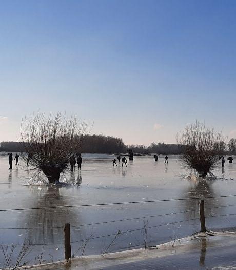 Schaatsers balen van actie waterschap, maar dat houdt voet bij stuk