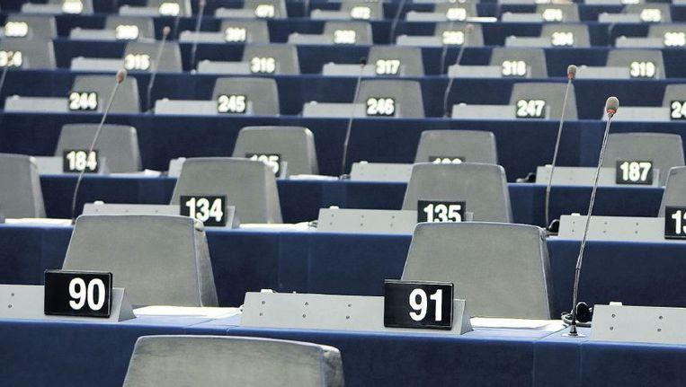Het Europees Parlement in Straatsburg. In de zomer kun je er een kanon afschieten. Beeld anp