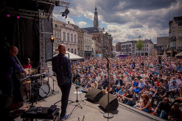 Het concert van Joshua Redman op de Markt werd vorig jaar goed bezocht.