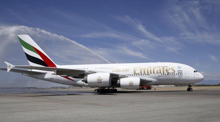 Het grootste vliegtuig ter wereld, een A380. Beeld EPA