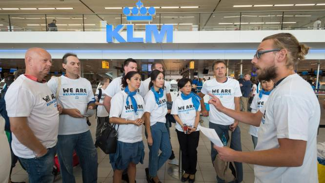 'Grondpersoneel KLM dringt aan op snelle cao'