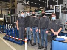 Corona of niet, de studenten van Curio bedenken nuttige machines zoals de strijk-vouw installatie