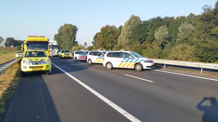 De A28 is dicht tussen Wezep en Hattemerbroek