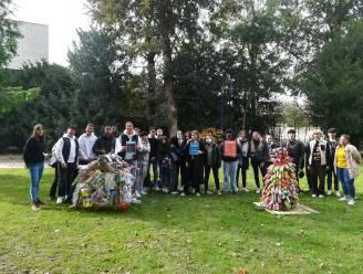 Leerlingen Sint-Jozefinstituut vervaardigen kunstwerken uit sluikstort