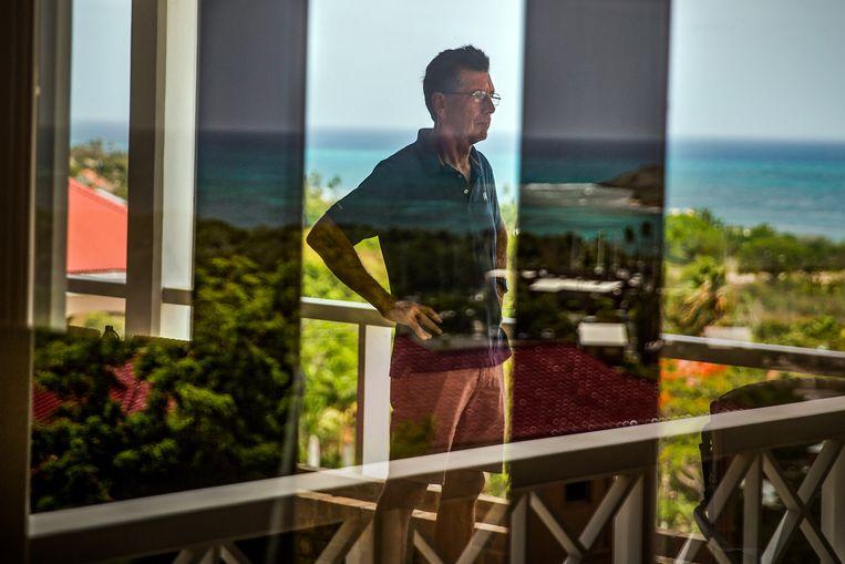 Mosler in zijn stekje op de Maagdeneilanden: ' 'Linkse mensen vinden altijd dat de rijken meer belasting moeten betalen, maar volgens mijn theorie is dat niet zo.' Beeld Bloomberg via Getty Images