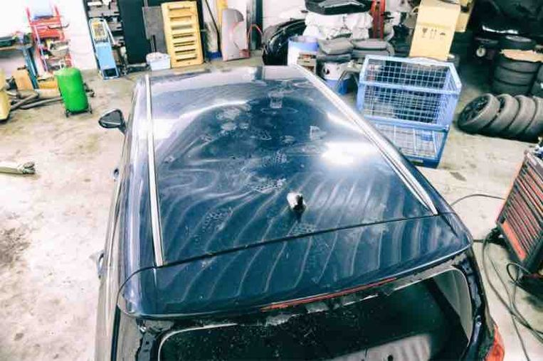 De auto van Maria Baets