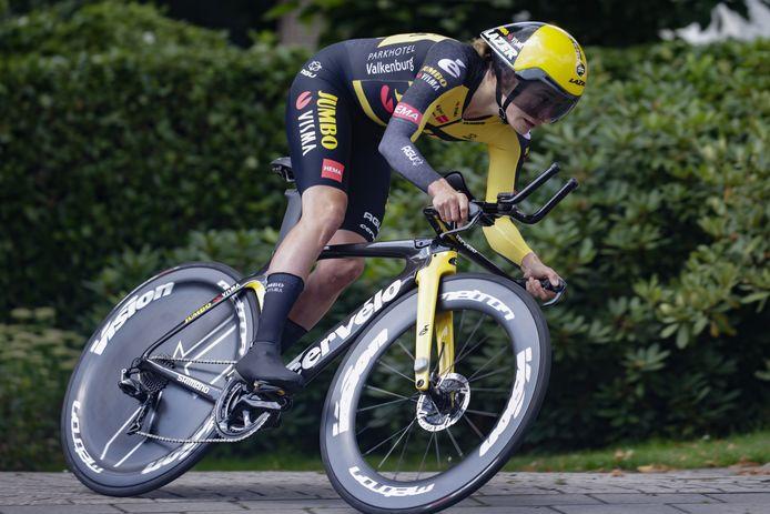 Marianne Vos was in Ede de snelste bij de proloog van de Ladies Tour.