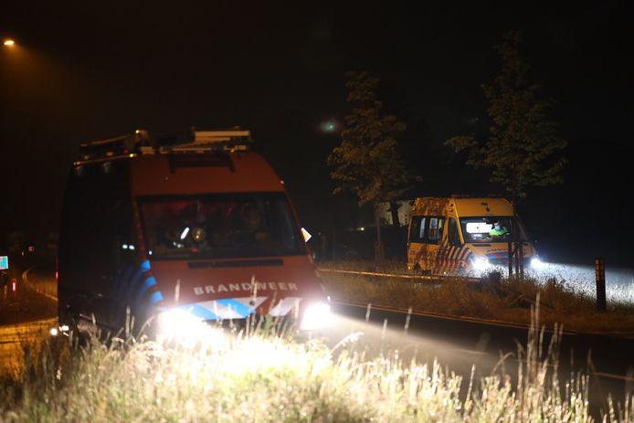 Een vrouw raakte zaterdagnacht te water in Schijndel.