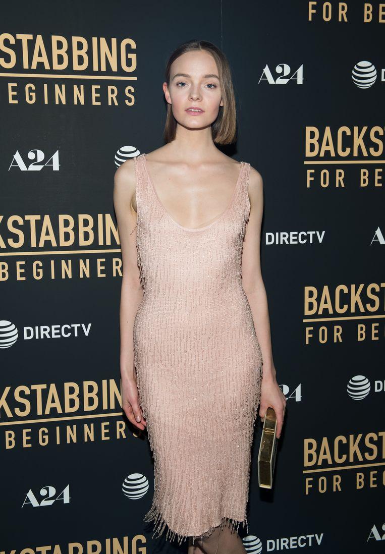Model Nimue Smit in New York.  Beeld Getty Images