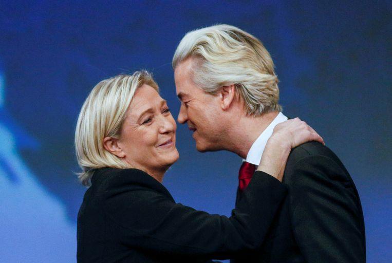 Marine Le Pen en Geert Wilders. Rummens: