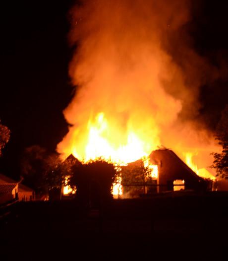 Geiten levend verbrand bij schuurbrand in Zutphen