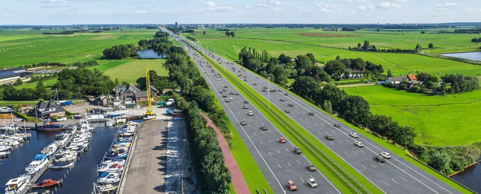 Zo moet de A1 bij Eembrugge worden: het aantal rijstroken gaat van 2 naar 4.