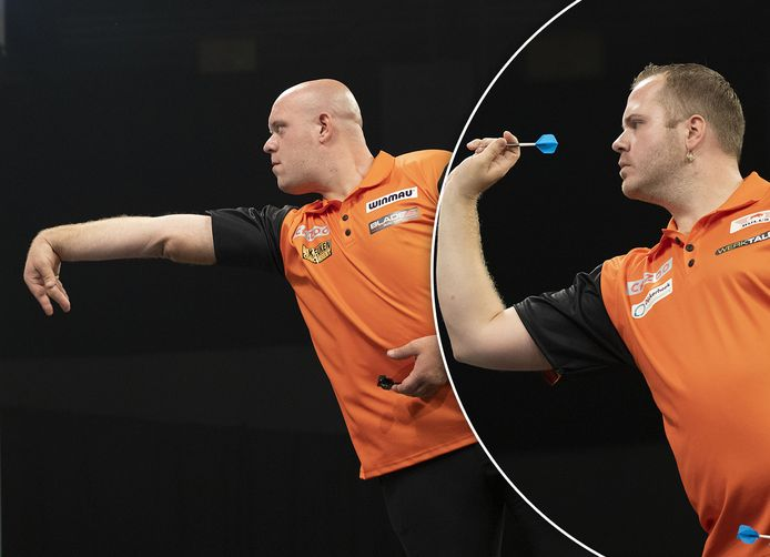 Michael van Gerwen en Dirk van Duijvenbode.