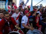 Duizenden Argentijnse voetbalfans verzamelen in Madrid