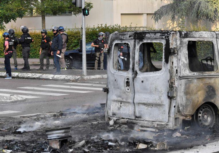 De ravage in Dijon. Beeld AFP