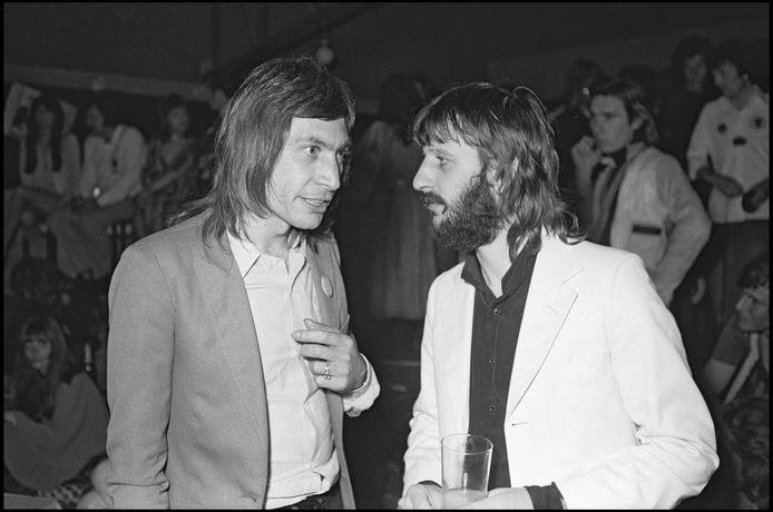 Charlie Watts et Ringo Starr au festival de Cannes en 1971.