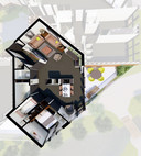 Zo zou het interieur van de Living Blocks van Peter Heuvelmans en Hidde Engwerda uit Lage Mierde en Netersel eruit kunnen zien.