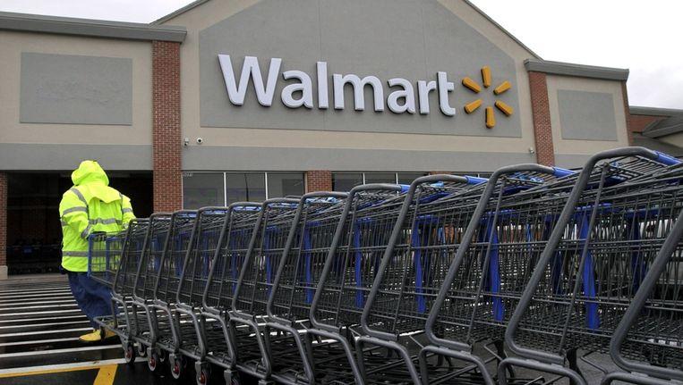 Teleurstellende cijfers van warenhuisketen Walmart drukten donderdag de stemming op Wall Street. Beeld ap