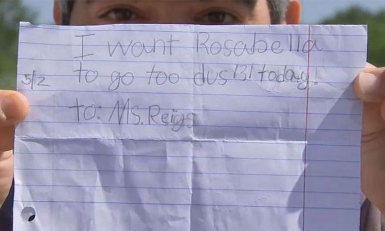 Bizar: meisje (7) krijgt vrij van school met zelfgeschreven briefje