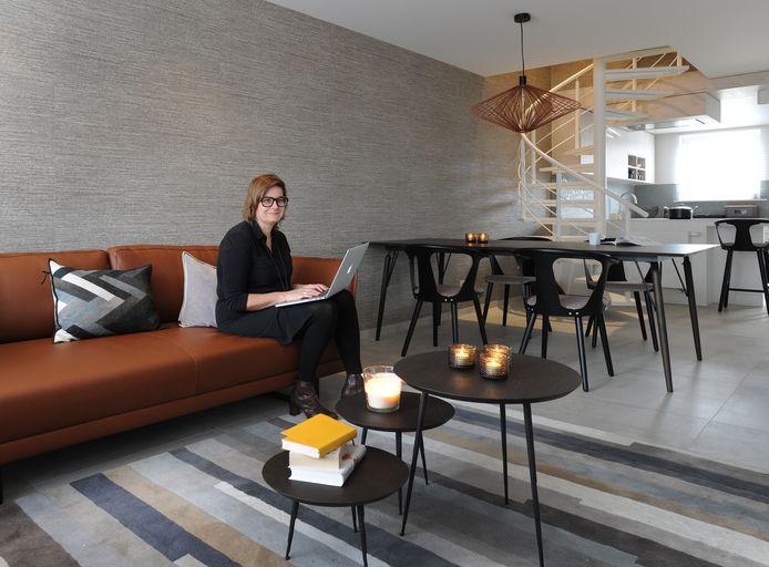 Hilde Janssens woont in een duplex van 82 m² in Rotselaar.