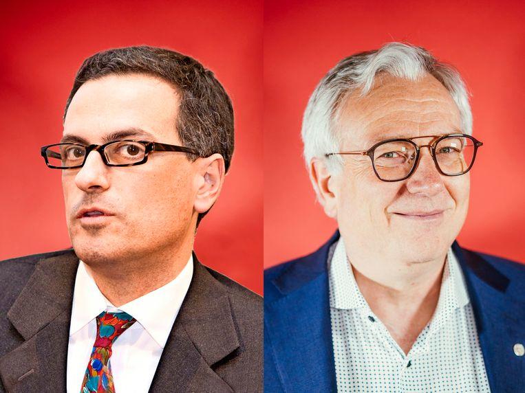 Paolo Bonanni en Dirk Devroey. Beeld Stefaan Temmerman