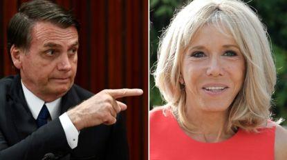 """Franse president haalt hard uit nadat Bolsonaro zich vrolijk maakt over uiterlijk Brigitte Macron: """"Extreem respectloos en treurig"""""""