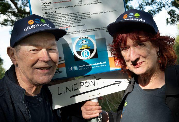 Vrijwilligers Erik van Grieken en zijn vrouw Annabel Bousquet.