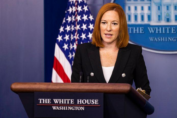 Des membres totalement vaccinés du personnel de la Maison Blanche ont été testés positifs au Covid-19, a annoncé la porte-parole de l'administration Biden, Jen Psaki (photo).
