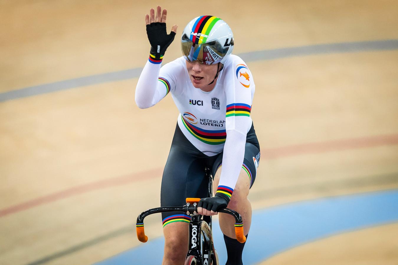 Begin dit jaar won Kirsten Wild op de Velodrome in Hongkong.