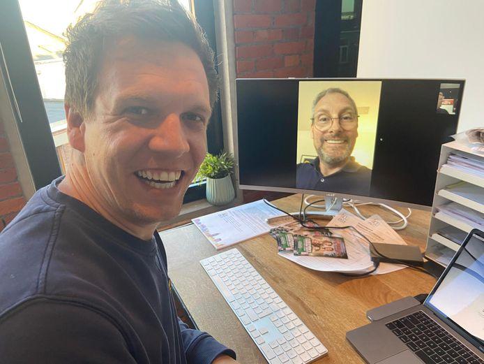 James Cooke in een video call met Gert Verhulst.