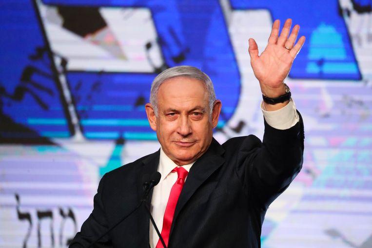 De Israëlische premier Benjamin Netanyahu. Beeld AP