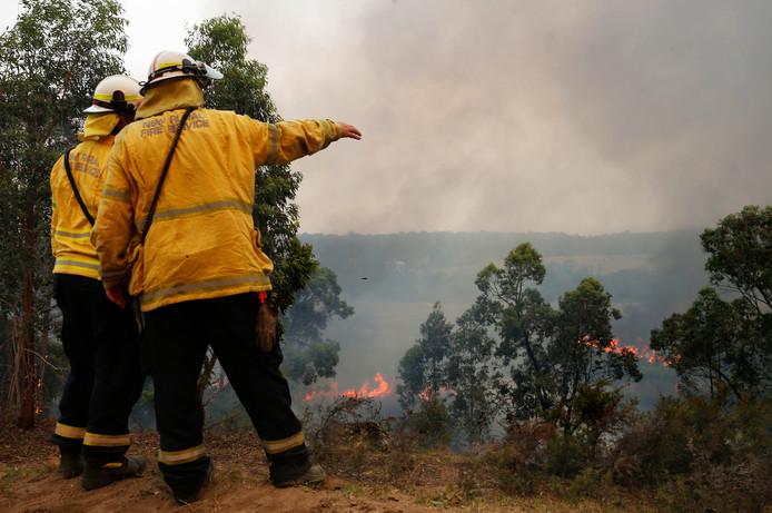 Ook in de buurt van Newcastle zijn er bosbranden.