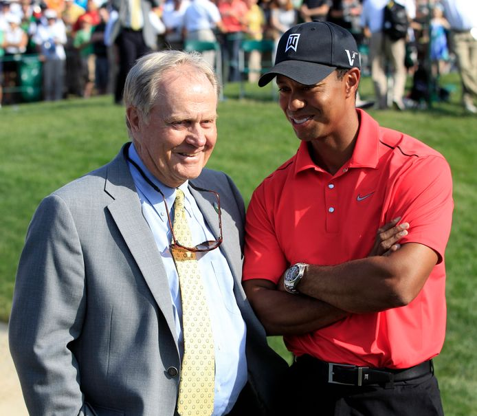 Jack Nicklaus en Tiger Woods.