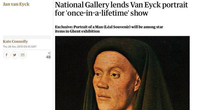 Gent op de website van The Guardian