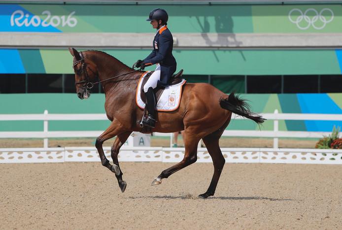 Alice Naber in actie tijdens de spelen in Rio