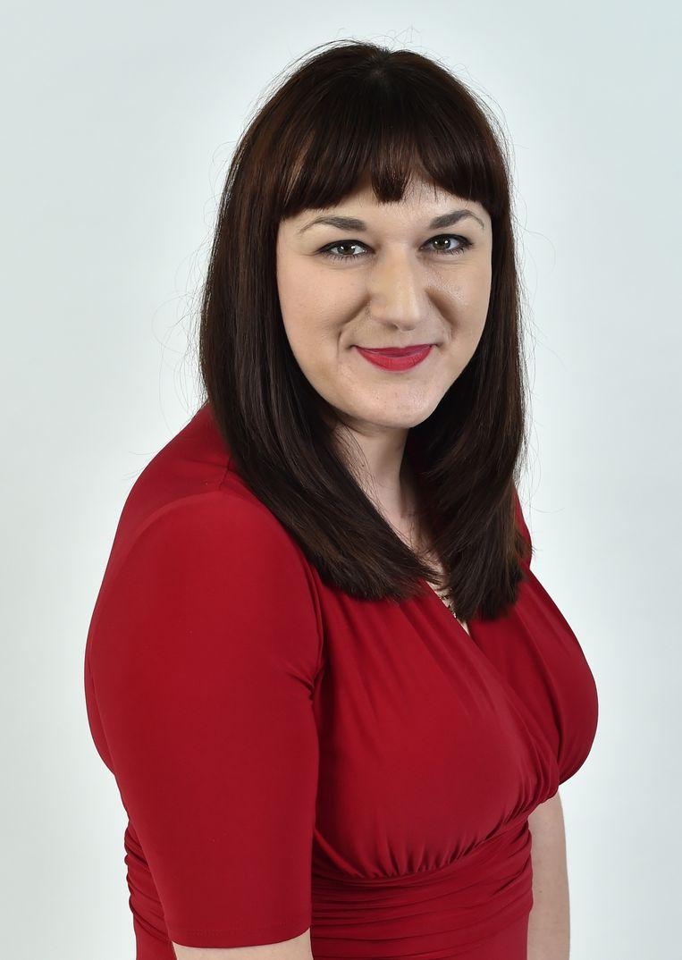 Het Joodse Labour-kamerlid Ruth Smeeth neemt een lijfwacht mee naar het partijcongres in Liverpool. Antisemitisme binnen de Corbyn-achterban bracht haar eerder al in tranen. Beeld null