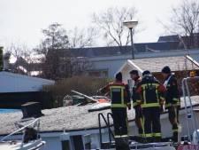 Woonboot gezonken in Nieuwkoop