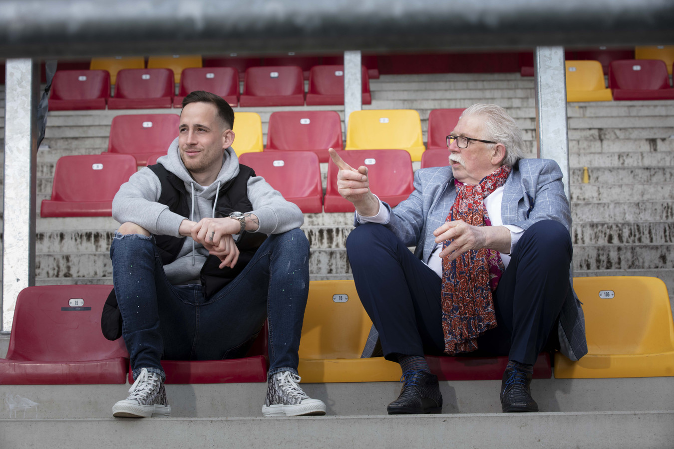 MECHELEN, BELGIUM Bo Geens and father Theo Kusters ex-goal keeper of the Belgian Red Devils pose for the photographer (pict Frank Abbeloos/Isosport)