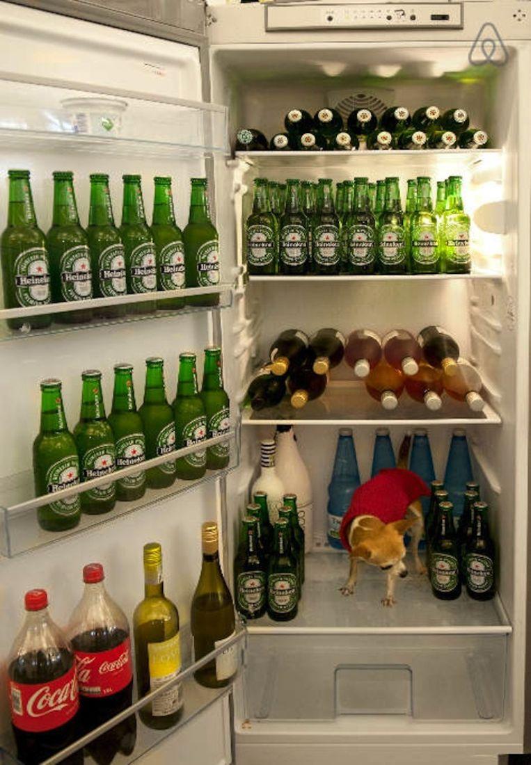 Verboden de koelkast leeg te drinken Beeld Airbnb