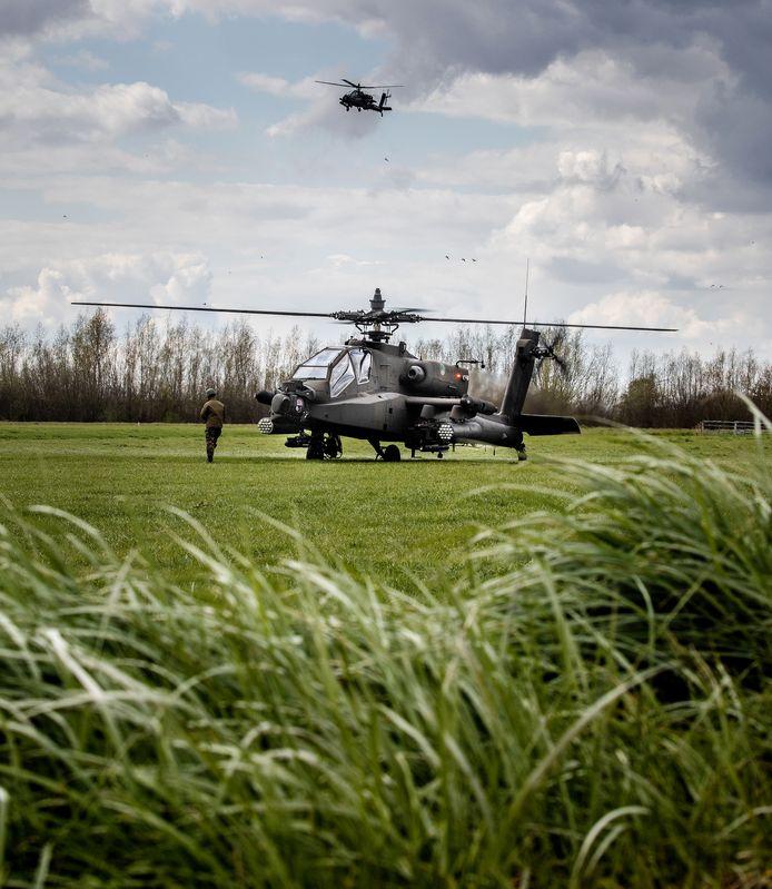 Een Apache helikopter.