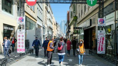 Nieuwstraat zit aan helft van normale aantal bezoekers